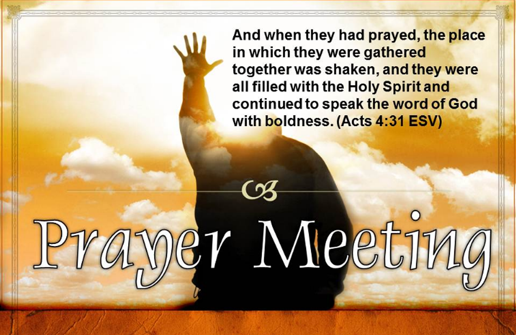 Prayer is meeting with God