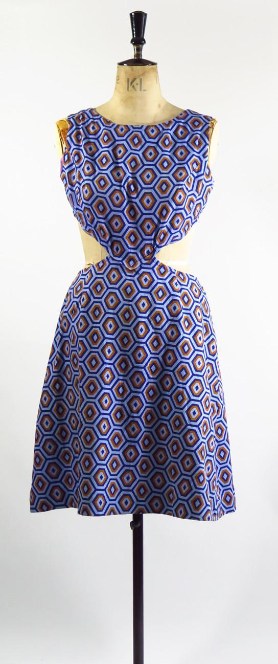 1960s Cut Out Dress
