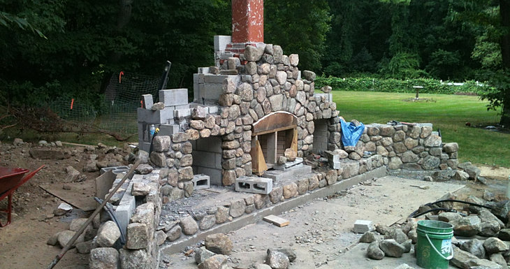 Outdoor Fireplace Milton Ma