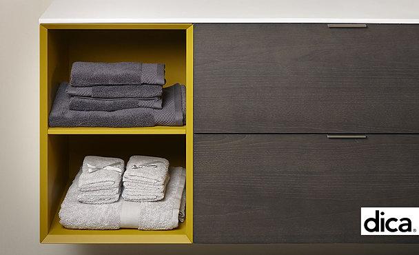 dica detalle cajones extraíbles con repartos mueble baño dica