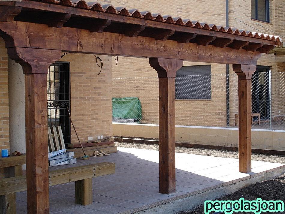 Porches de madera pergolas cenadores for Cenadores de madera