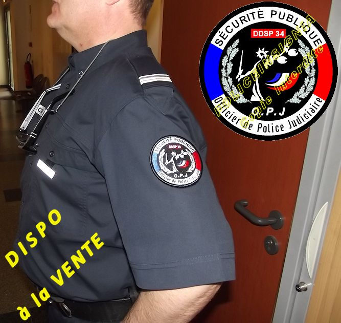 Cr ations d cussons broderie de patchs insignes tissus for Police nationale lille