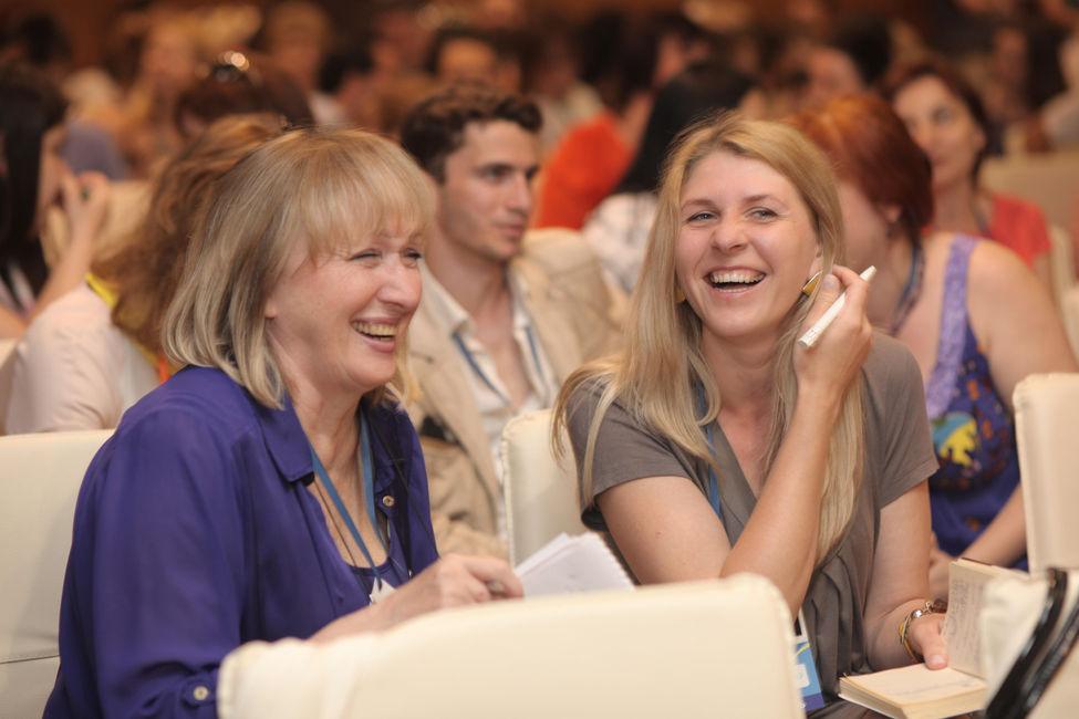 Щасливі педагоги на EdCamp Ukraine 2015