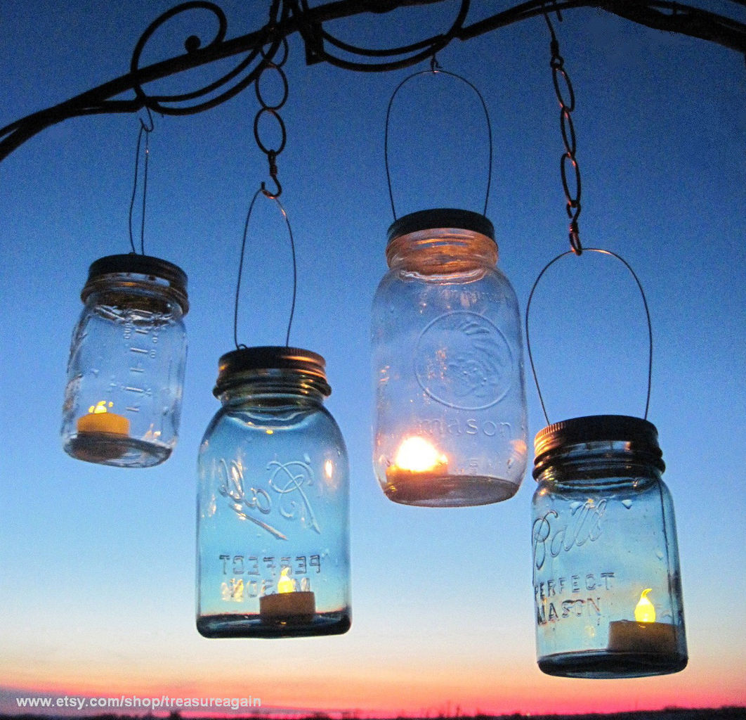Treasureagain mason jars ball jars mason jar solar light jar hanging mason jar lantern lids arubaitofo Gallery