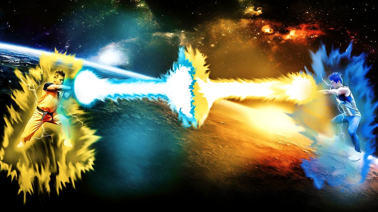 Son Goku Vs Vegeta Kamehameha Final Flasch 5