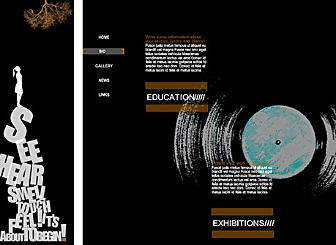 Dark Art Design Template - Crea il tuo sito spettacolare gratuito grazie a questo template Flash facile da usare. Progettato per venire incontro esclusivamente alle tue esigenze, questo template artistico è il palco perfetto per mostrare la tua presenza personale e professionale
