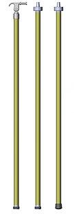 Pértigas de diferentes medidas según el voltaje utilizado. Excelentes para desconexión de cuchillas.