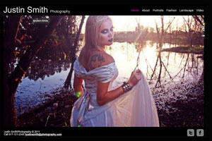 Fashion Photographer Template - A dark, clean and sophisticated website design, this template is perfect for those who need to promote a portfolio on the web.
