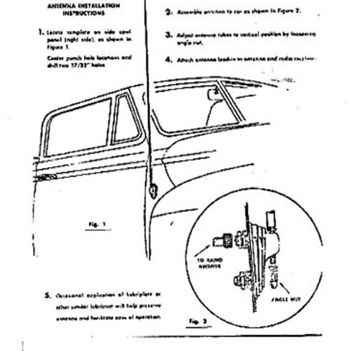 Classic Vintage Car Radio Antennas Ford