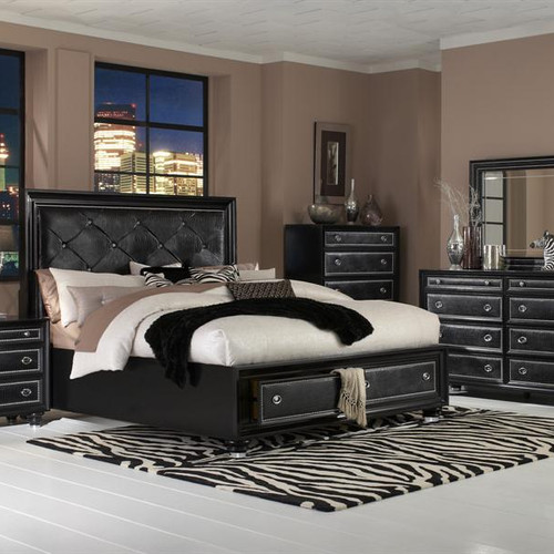 onyx cal king storage bed