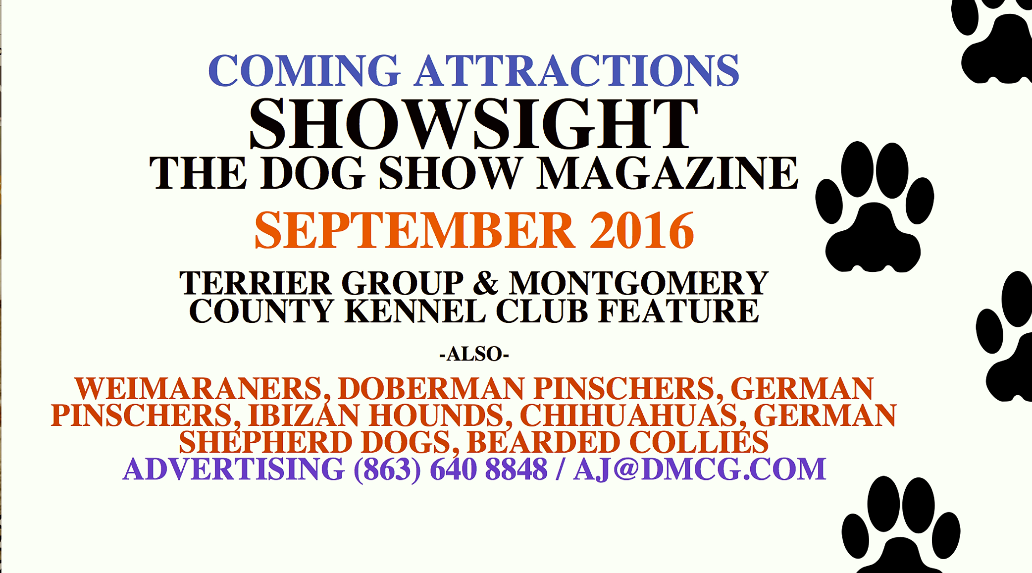 COMING ATTRACTIONS - SEPTEMBER 2016