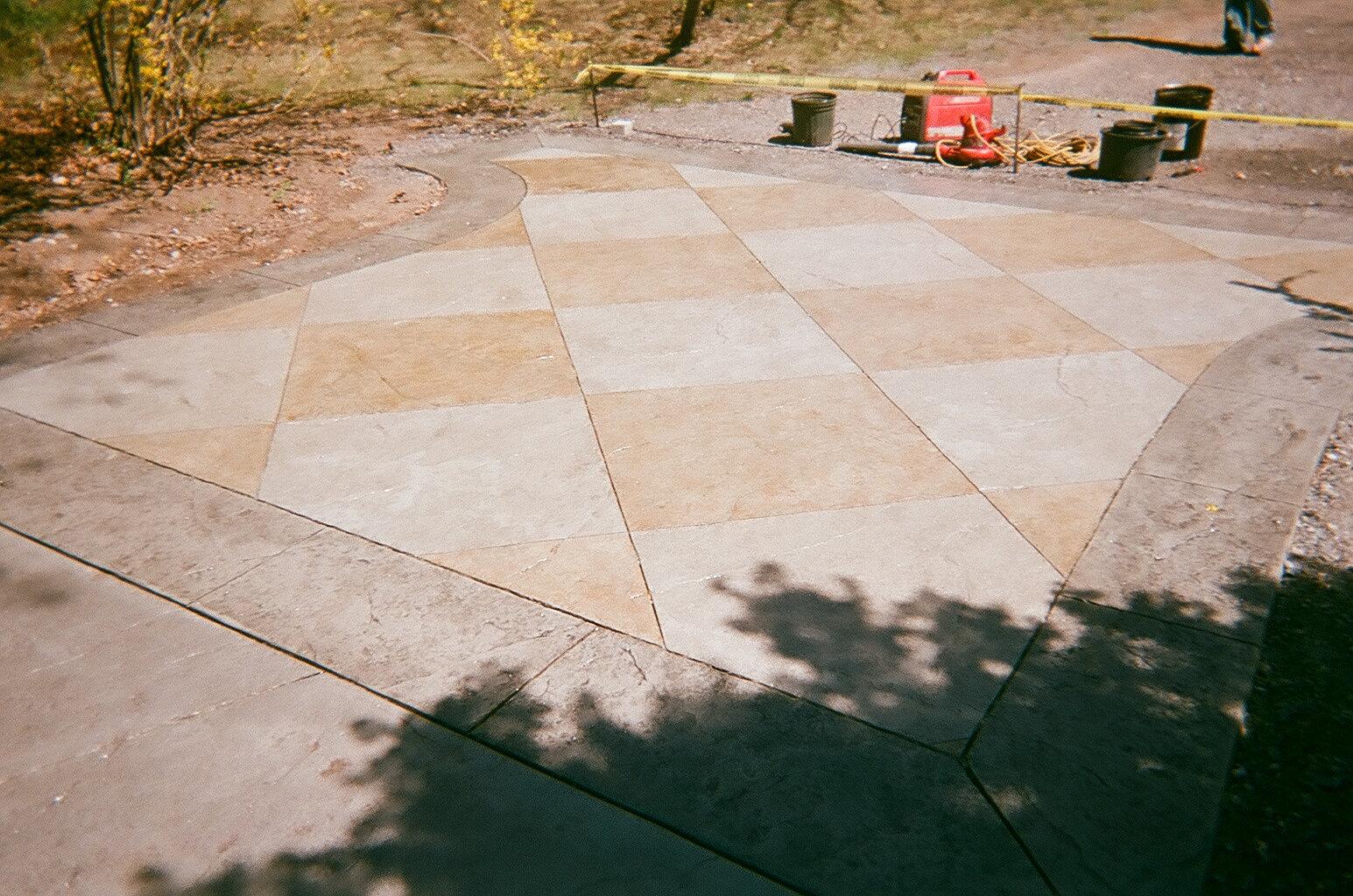 Stamped Concrete Siding : Senecal concrete designs stamped driveways new
