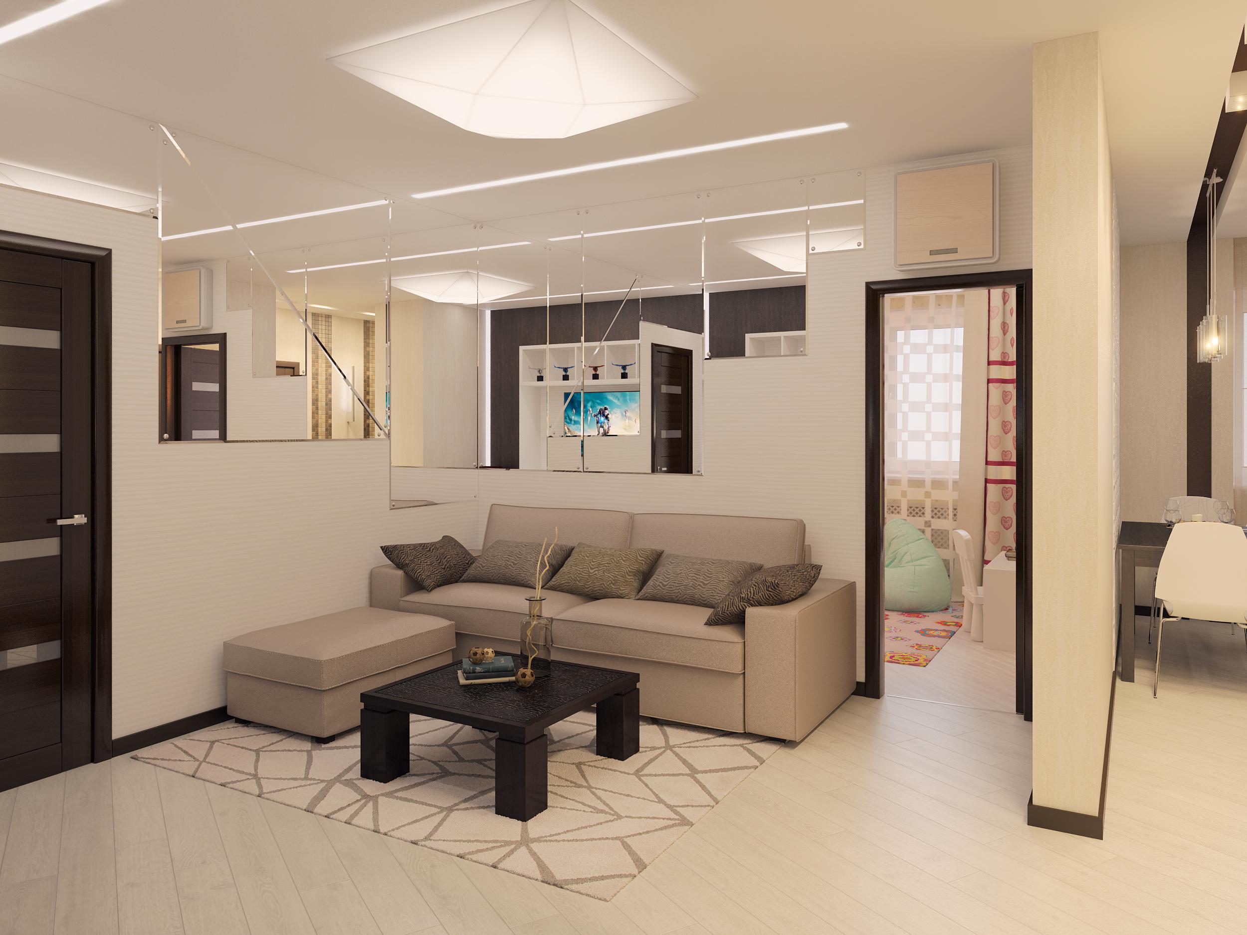 Планировка и дизайн однокомнатной квартиры 37 кв м