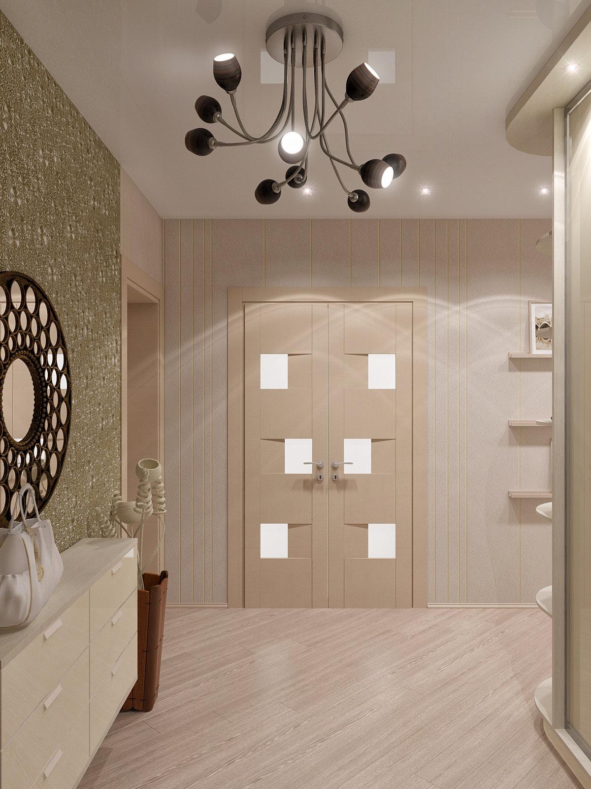 интерьер со светлыми дверями фото
