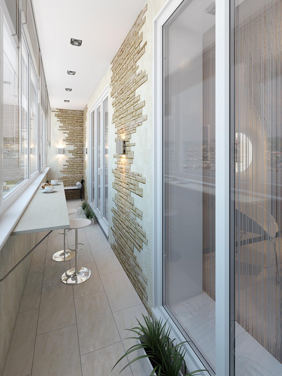 Дизайн балкона белого цвета. - лоджии - каталог статей - бал.