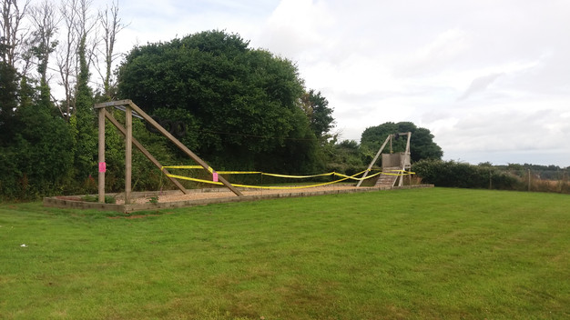 Zip wire out of action at Feock park