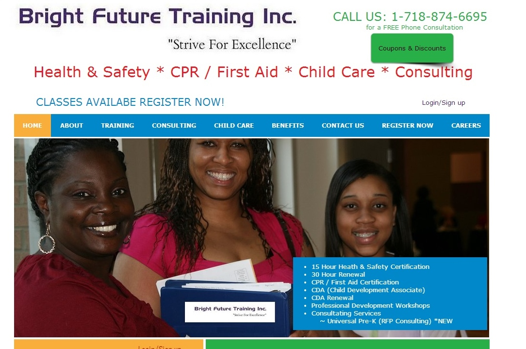 Bright Future Training Child Care Traininghealthsafety30hrupk