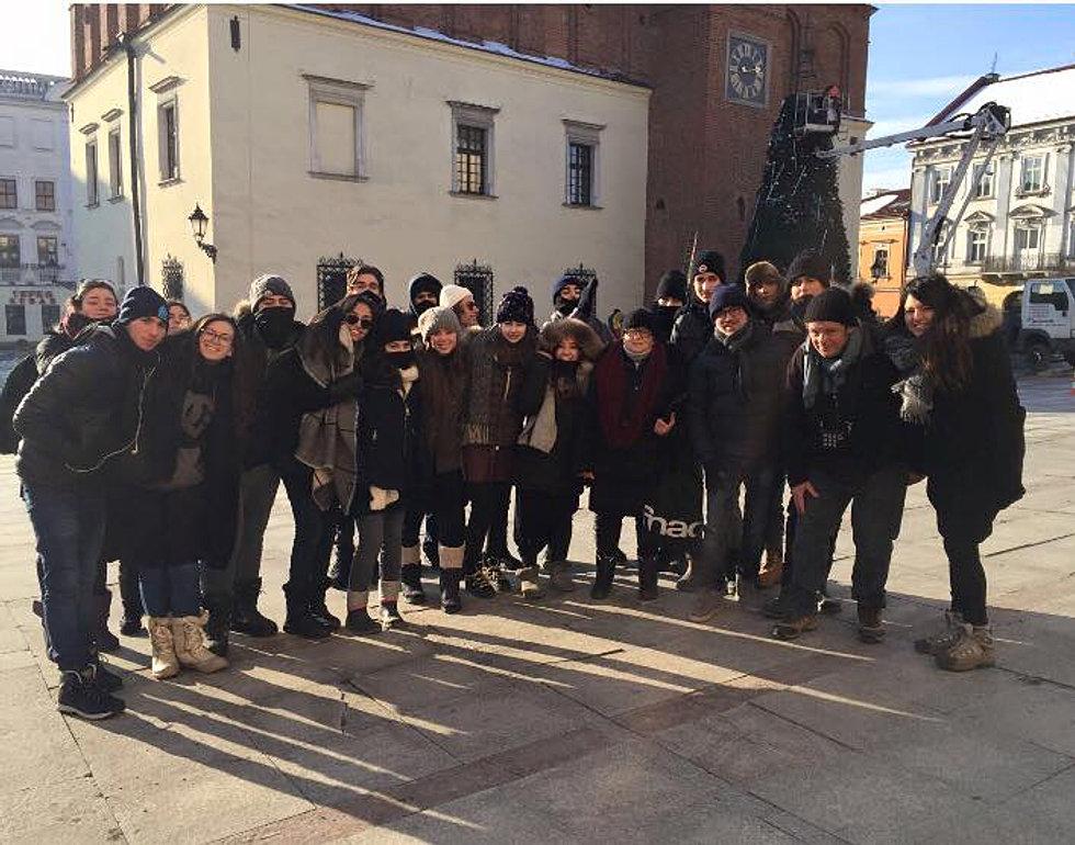 Nos élèves à Tarnow ce matin