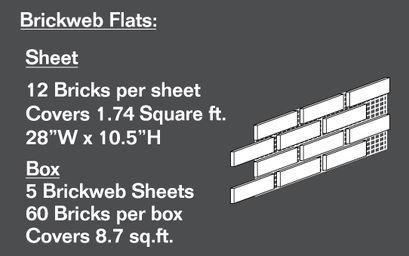 Brickweb Flat Sheets