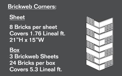 Brickweb Corner Sheets