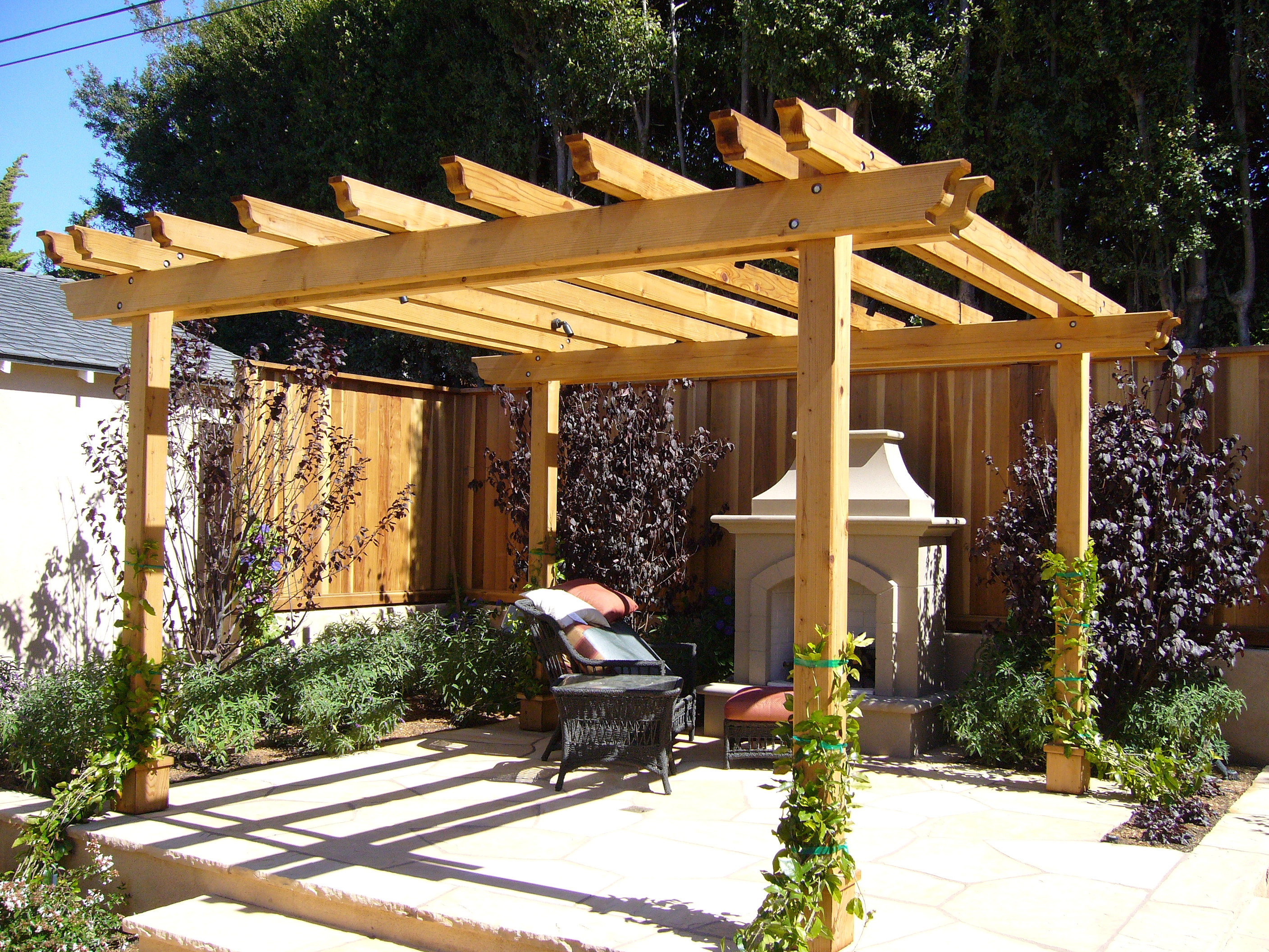 awning structure retractable awnings and shade structures. Black Bedroom Furniture Sets. Home Design Ideas