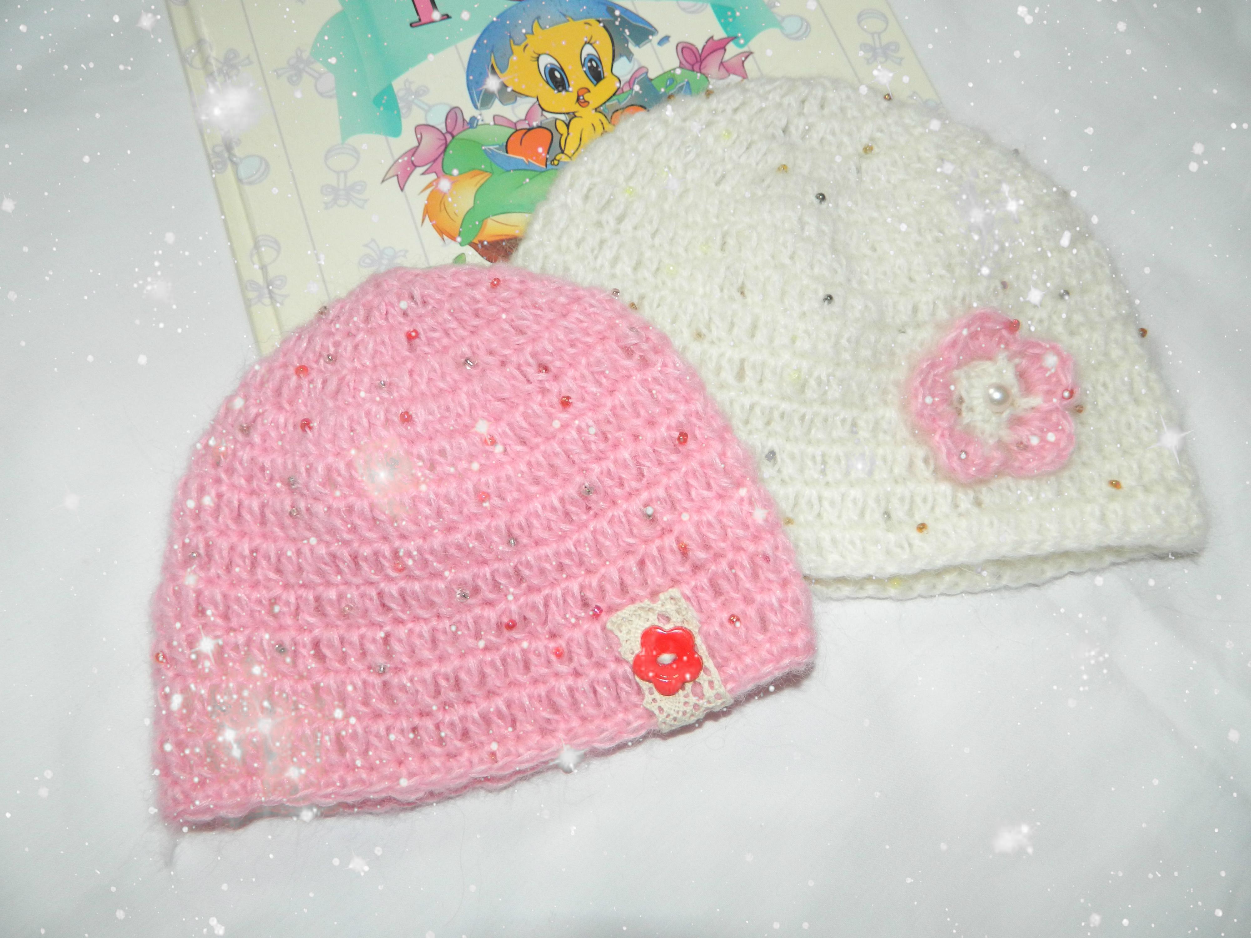 Связать своими руками шапку для девочки 65