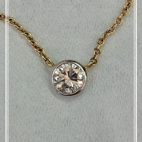 Larouche diamonds pendants and necklaces 34ct bezel diamond pendant mozeypictures Images