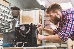 QCMS Coffee Machine Technician Repairing
