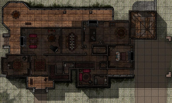 Battle Maps The Haunted Manor House Stoneworker Cartography