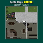 Battle Maps MODERN:  Modern Home I