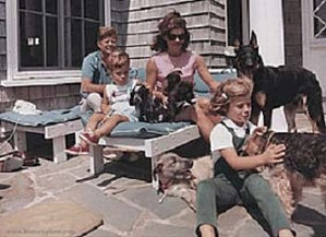 President Kennedy and family