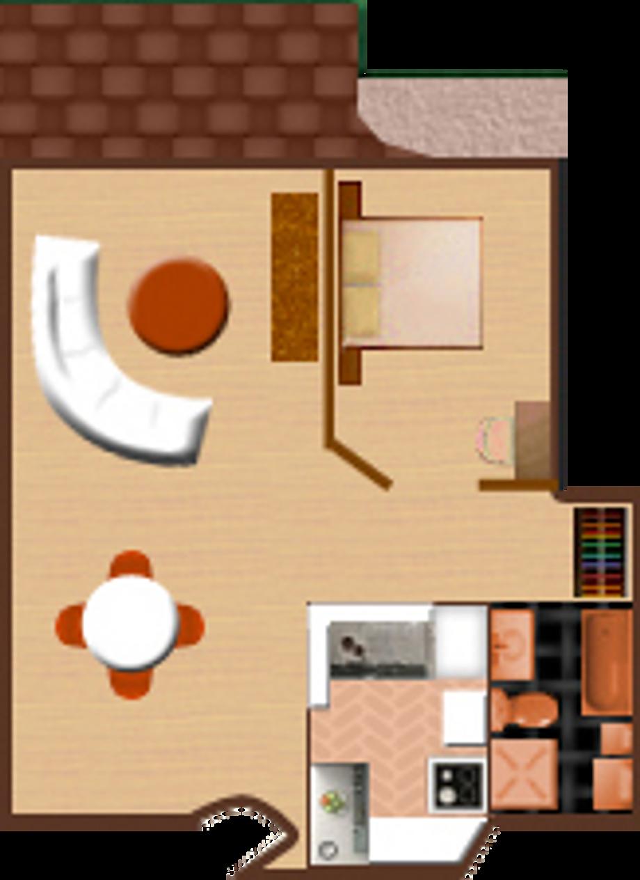 1 Bedroom Apartment - D Column