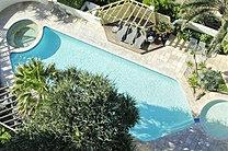 Overhead view of Caprice pool