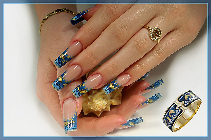 Дизайн ногтей греческий орнамент