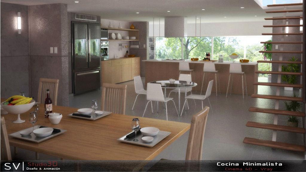 Carlos escobar for Casa minimalista interior cocina