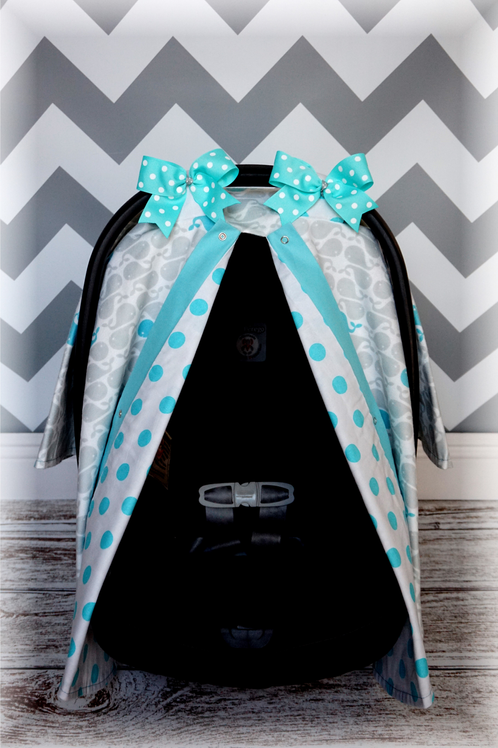 flannel grey n teal whales canopy jaydenandolivia carseat canopies. Black Bedroom Furniture Sets. Home Design Ideas