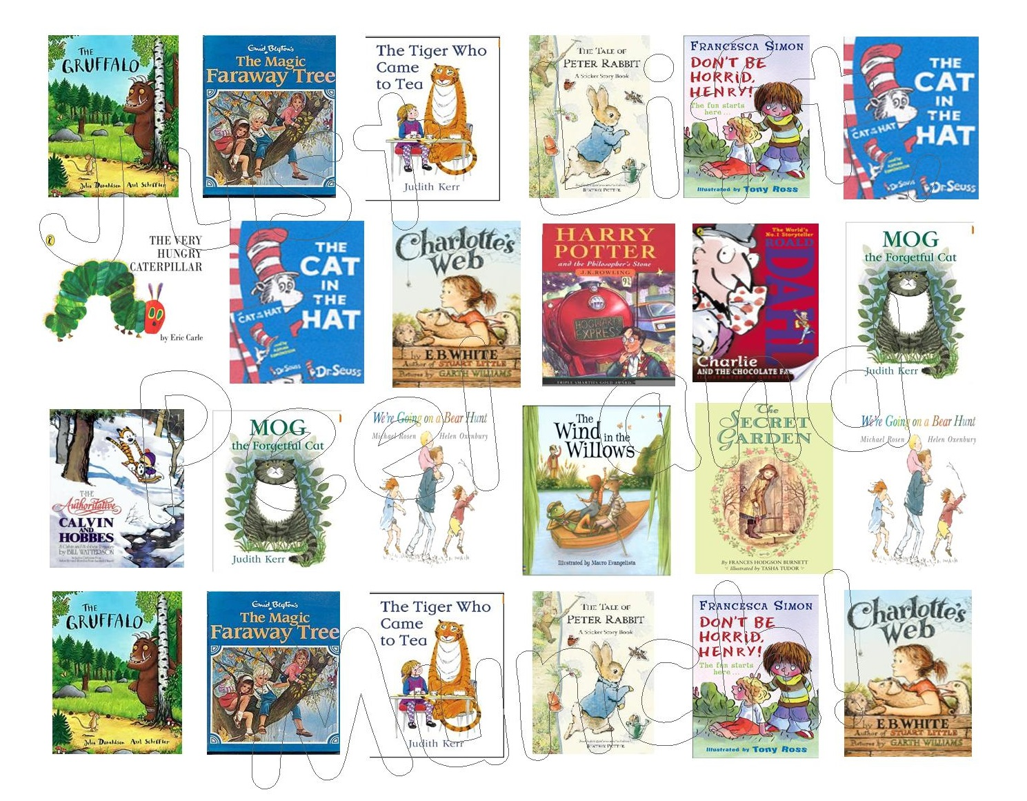 Children S Book Covers To Print ~ Children s various mini book covers just lift peel