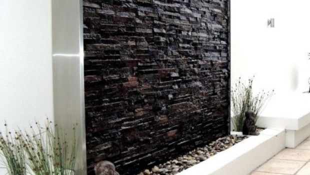 Vivero hermosas paredes de agua para exteriores para tu - Fuentes de pared de piedra ...