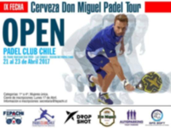 Torneode de padel  Zamorano 21 a 23 abril 2017