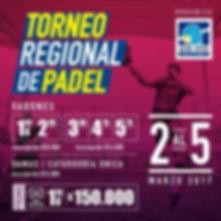 torneo de padel regional La serena 2 a 5 Marzo 2017