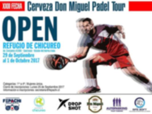 Torneo padel cerro pasco 29 septiembre a 1 de octubre 2017