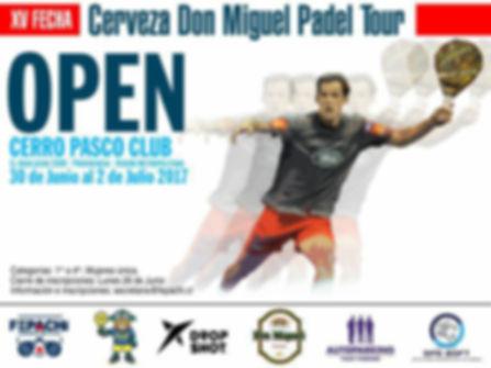 Torneo de padel cerro pasco 30 junio a 2 julio 2017