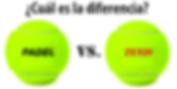 diferencia pelota de padel y pelota de tenis
