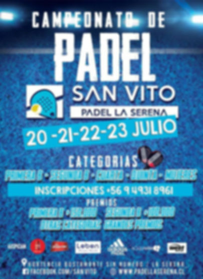 Torneo de Padel Club San Vito 20 a 23 julio 2017