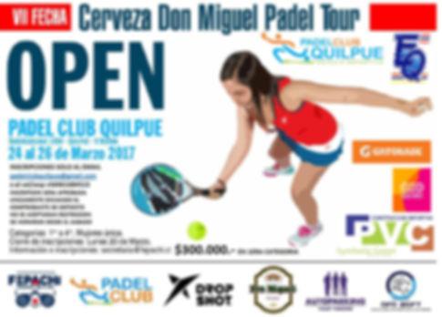 Torneo de padel Quilpue 24 a 26 Marzo 2017