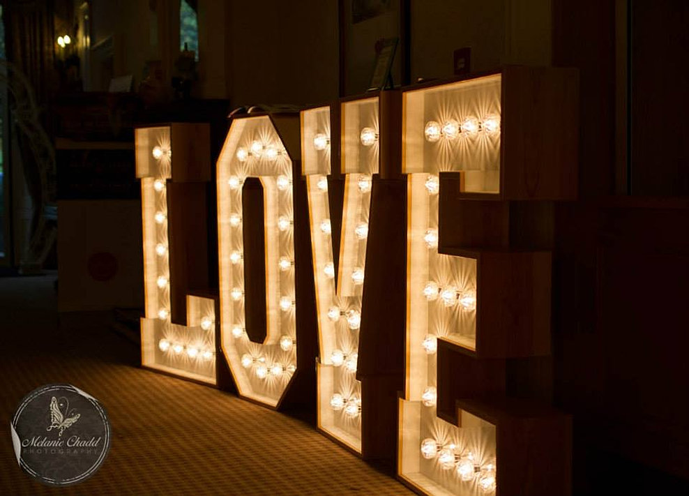 light up love letters big giant