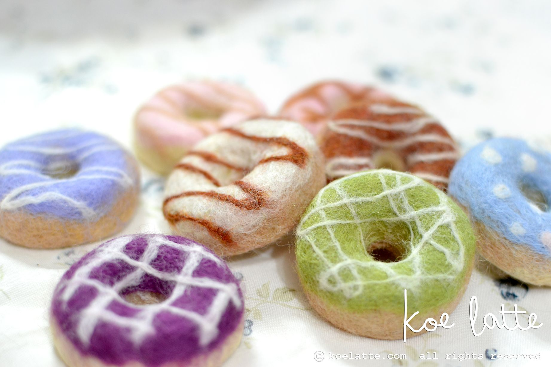 Felted Donut Soap