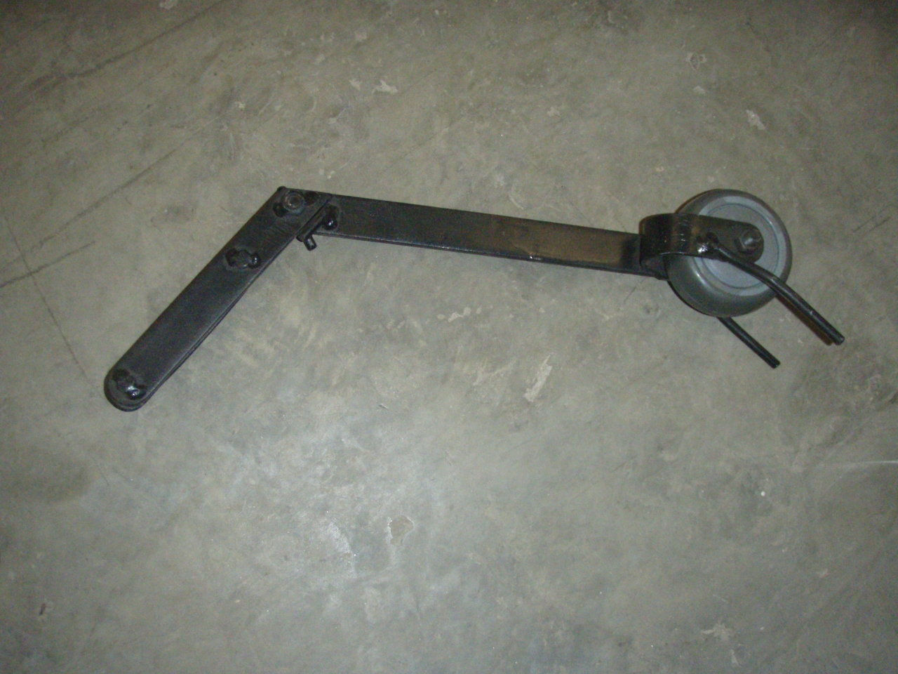 rail measuring wheel guide
