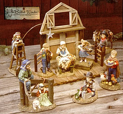 UnBridled Wonder 9 piece Nativity
