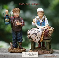 Baby Jesus, Mary, and Joseph
